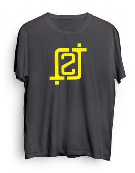 2J logo dark gray t-shirt