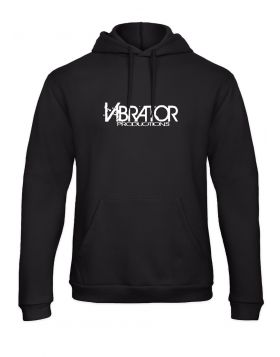 Vibrator Productions logo black hoodie