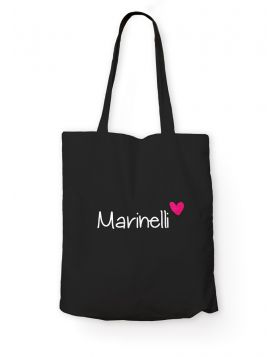 Marinelli logo black tote bag