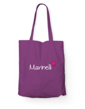 Marinelli logo purple tote bag