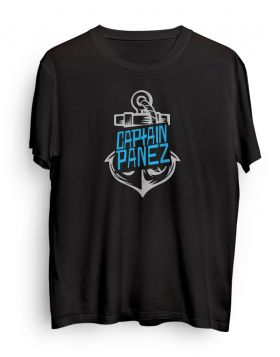 Captain Panez logo black t-shirt