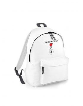 Aesthetic af Venetia Kamara white backpack