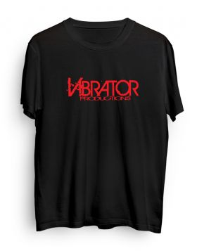 Vibrator Productions red logo black t-shirt