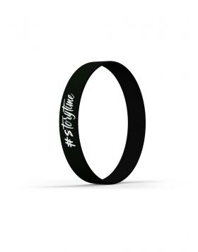 Black Storytime The Kays wristband by Natasha Kay
